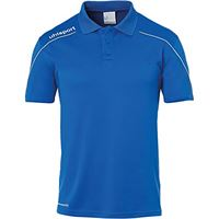 uhlsport stream 22 - polo da bambino, bambini, t-shirt, 100220403, azzurro/bianco, 152