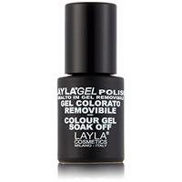 Layla cosmetics Laylagel polish smalto semipermanente per unghie con lampada uv, 1 confezione da 10 ml, tonalità glam dollar