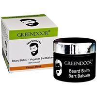 GREENDOOR novità: greendoor vegan basile balsamo, care di barba premium 50 ml in vasetto di vetro nero, zitrisch fresco profumo di oli essenziali puri, 100% naturale del produttore di cosmetici