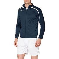 Erima 4043523857320 jacket, unisex bambini, new navy/dark navy/bianco, 140