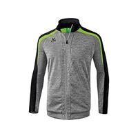 Erima 4043523857092 jacket, unisex bambini, grigio melange/nero/green gecko, 152
