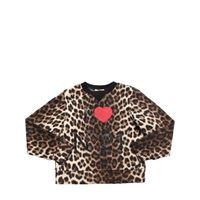 N°21 felpa in cotone stampa leopard