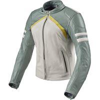 Rev'it giacca moto donna pelle Rev'it meridian ladies bianco verde