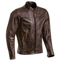 Ixon giacca moto pelle estiva Ixon crank air marrone
