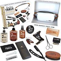 BARBER TOOLS ✮ BARBER TOOLS ✮ kit/set/cofanetto per la cura e manutenzione della barba e radersi   cosmetici made in francia