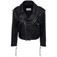 MAISON MARGIELA giacca biker cropped in lana