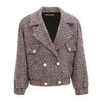 ALESSANDRA RICH bomber in tweed di misto lana con paillettes