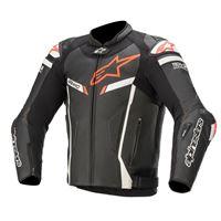 Alpinestars giacca moto pelle Alpinestars gp pro v2 tech-air® compatibile nero bianco rosso fluo