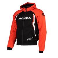 Alpinestars honda chrome sport full zip sweatshirt l red / black