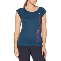 Ferrino - row line t-shirt woman tg s denim t-shirt, donna, blu, 42