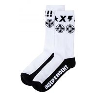 Independent calze Independent socks ante sock white