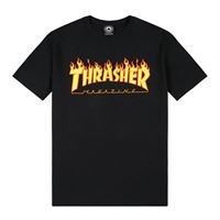 Thrasher t-shirt Thrasher magazine flame black