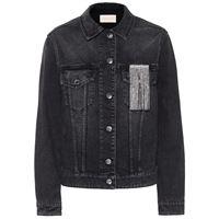 Christopher Kane giacca di jeans con cristalli