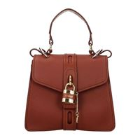 Chloé borse a mano donna pelle marrone maroon one size