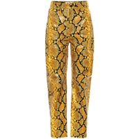 The Attico pantaloni dua in pelle stampata