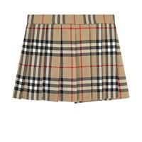 Burberry - gonna plissettata motivo vintage check 12 mesi