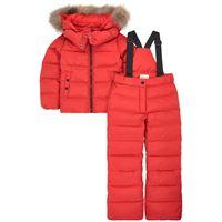 Moncler - piumino e pantaloni da sci con imbottitura in piuma e piumino d'oca 8 anni