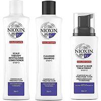 Nioxin kit trifasico sistema 6 per capelli trattati chimicamente e assottigliati - 300 ml