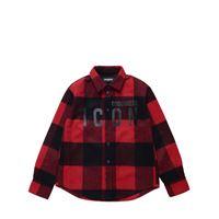 DSQUARED2 camicia in misto lana con logo