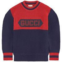 Gucci - logo knit maglione navy 4 anni