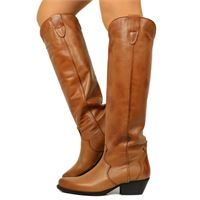 KikkiLine stivali texani alti donna cuoio in pelle made in italy