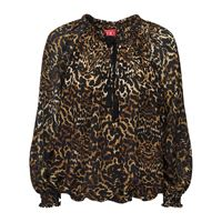 F.R.S. FOR RESTLESS SLEEPERS camicia in crepe di seta leopard