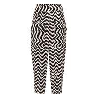 Stella McCartney pantaloni cecilia a stampa in seta