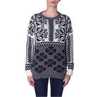 Twin set maglia fantasia bianco e nero