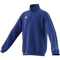 adidas core18 presentation jacket, giacca unisex bambini, blu (azzurro/bianco), 116