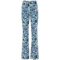 PACO RABANNE pantaloni vita alta in cotone stampato