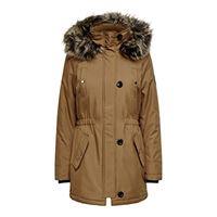 Only onliris fur winter parka cc otw giacca, rose polvo, xs donna