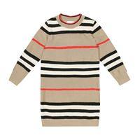 Burberry Kids abito a righe in lana e cashmere