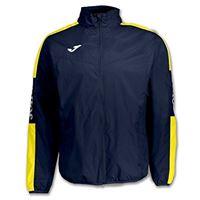 Joma 100689.309 impermeabile per bambini, blu navy/giallo, 4xs