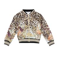 Camilla Kids giacca bomber a stampa leopardo