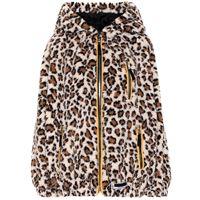 Miu Miu felpa a stampa leopardo con cappuccio