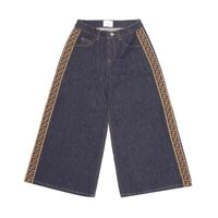 Fendi Kids jeans a gamba larga