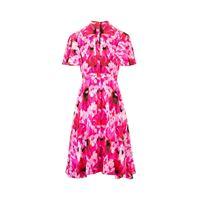 ALEXANDER MCQUEEN vestito donna 611120qcabe5033 seta fucsia