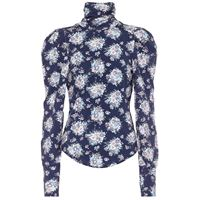 LOVESHACKFANCY blusa vienna a stampa floreale in jersey