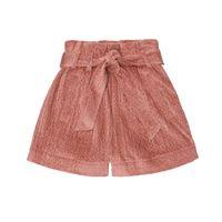 Brunello Cucinelli Kids shorts in velluto di cotone a coste