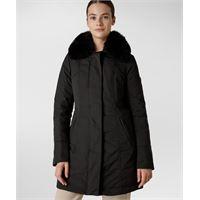 Peuterey giacca slim con pelliccia - nero