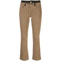 FRAME jeans crop - marrone