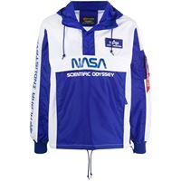 Alpha Industries giacca a vento con cappuccio scientific odyssey - blu