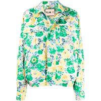 Plan C giacca-camicia squadrata - verde