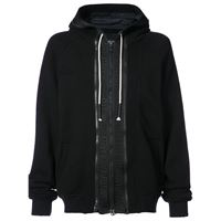 Mostly Heard Rarely Seen zip front hoodie - nero