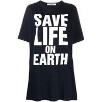 Katharine Hamnett London t-shirt oversize - blu