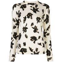 Proenza Schouler maglione con stampa - di colore bianco