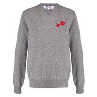Comme Des Garçons Play maglione con applicazione - grigio