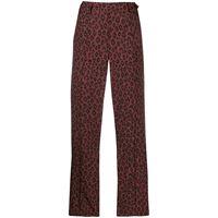 A.P.C. pantaloni crop con stampa - rosso