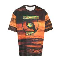 Phipps t-shirt tigers eyes - color marrone