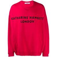 Katharine Hamnett London felpa oversize - rosso